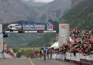 Tyler Farrar (Garmin-Sharp) takes first on Stage 1 of the 2012 USA Pro Challenge