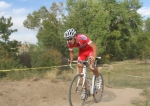 Robin Eckmann (California Giant Berry Farms/Specialized) on a hill on the back-side of the Valmont Bike Parkcourse