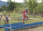 Robin Eckmann at the Valmont barriers on lap1