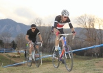 Ken Benesh leads Taylor Carrington near the end of therace