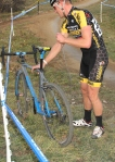 A snapped chain ended this rider'srace