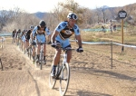 Single speed race, cat 3 riders inbackground