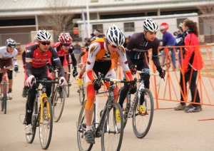 Junior men 15-16 start at 2012 Colorado State Cyclocross Championships