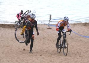 Gage Hecht rides the sand at Boulder Reservoir