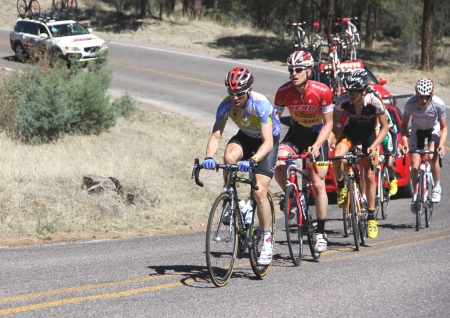 Javier Megias leads break at 2012 Tour of the Gila