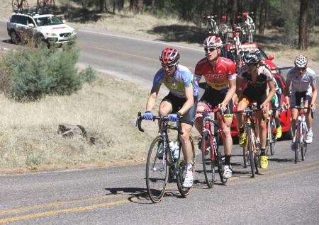 Javier Megias leads break at 2012 Tour of the Gila