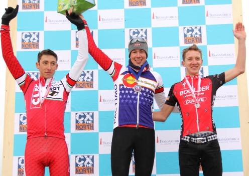 Junior 17-18 podium (l - r) Ian McPherson 3rd, Maxx Chance 1st, Garrett Gerchar 2nd
