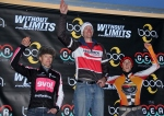2012 Boulder Cyclocross Series men's open final series leaders (l – r) Spencer Powlison 2nd, Ken Benesh 1st, Gage Hecht3rd