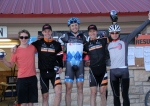 Men's open podium (l - r) 5th Garrett Gerchar, 3rd Pete Webber, 1st Danny Summerhill, 2nd Russell Stevenson, 4th Chris Case