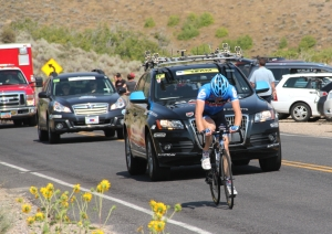 Tyler Farrar, last on the final hill of the 2012 Tour of Utah stage 3