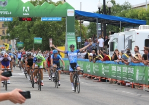 2012 Tour of Utah stage 4, Jake Keogh 1st, Tyler Farrar 3rd