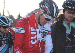 Brady Kappius before the start of the men's single speed 'cross national championship race