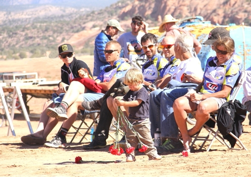 Team Type 1 - SANOFI's Kerry White and 5-man team at 24 Hours of Moab awards ceremony
