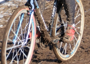 Katie Compton's bike in lap 2