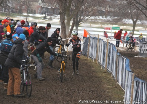 One of Russell Stevenson's eight bike changes at 2013 'cross nationals