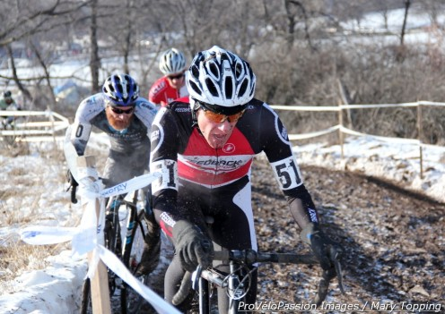 Tim Allen leads a group in the elite race at 2013 'cross nationals