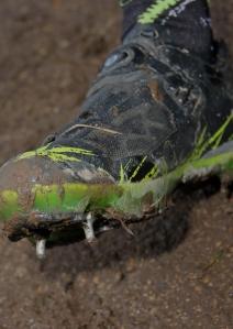 Yannick Eckmann's shoe spikes