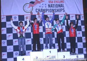 Junior men 10-12 podium at 2013 cyclocross national championships, with Boulder Junior Cycling riders Stephenson and Hart