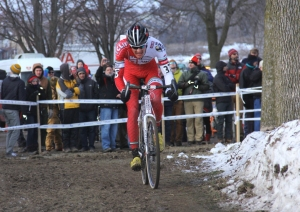 Brady Kappius on the last lap of elite 'cross nationals