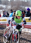 Katie Antonneau's first pass over the barriers at 'crossnationals