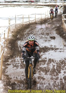 Russell Stevenson going for it in the 2013 cyclocross national championship 35-39 race