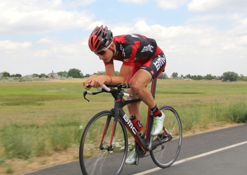 Taylor Phinney during pre-2012 Olympic training near Boulder, CO