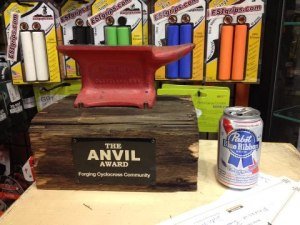 The Anvil Award (photo by Jamie Servaites)