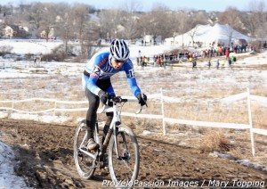 Danny Summerhill on his way to the podium at 2013 Cyclo-cross Nationals