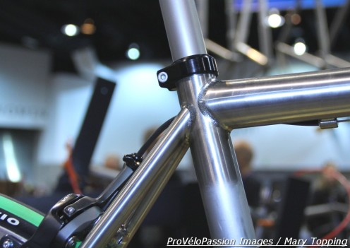 """""""Beauty with a bod"""" 2013 NAHBS prize-winning Eriksen road bike welding is clean without browning or color"""