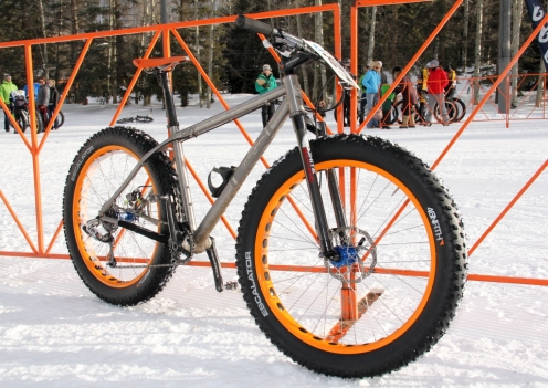 Jake Wells' winning TwentyTwo titanium snow bike