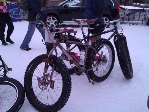 Snow bikes at the 2012 Winter Mountain Games in Vail