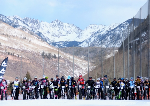 X-Country Winter Mountain Games start line in Vail