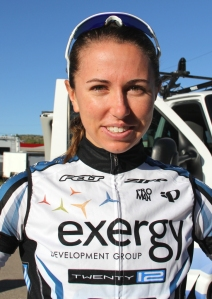 Jackie Crowell at the 2012 Tour of the Gila. Crowell won the Delray Beach Twilight Criterium this year.