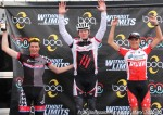 Cat 3 podium ages (l to r): 3rd Maxx Chance 17, 1st Nathan Brown 31, 2nd Gage Hecht 15