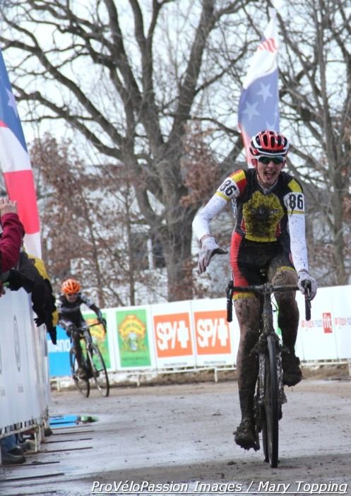 Anders Nystrom (BYRDS (Boise Young Rider Dev Squad)) in the junior 17 - 18 cyclo-cross nationals race takes fifth place
