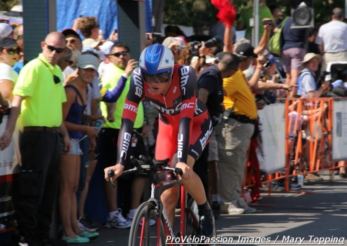 Tejay van Garderen completes the 2012 USA Pro Challenge time trial in second place