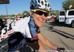 Kristin Armstrong (Exergy Twenty12) before the start Stage 1