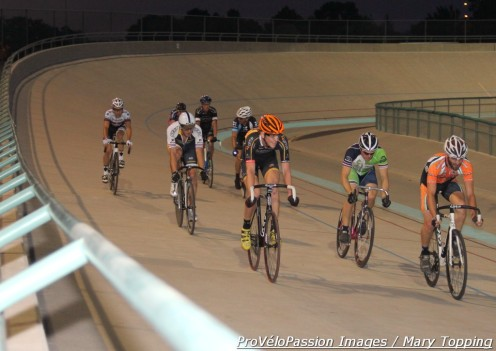 Friday night racing at the Colorado Springs Velodrome, men's Pro 1 2 field