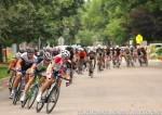 Field chasing mid-way into Pro-1-2 men's CO State Criterium Championshiprace
