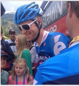 Ryder in POC glasses during the 2013 Tour de France (POCSports Instragram photo)