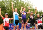 2013 CO State Crit Champs SM3 men's podium – Gage Hecht 4th, Ben Sharp 2nd, George Simpson 1st, William Nabours 3rd, John Klish 5th