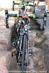 Orica-GreenEGDE street-side bikestand