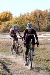 Caitlyn Vestal led the chase twosome with Laurel Rathbun
