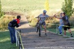 Drew Christopher finished the men's open race on a mountainbike