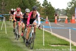 Ken Benesh took first position on course early in lap 3. Chris Case and Gage Hechtfollow.