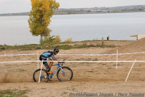 Ben Berden in the sandpit by the Boulder Reservoir