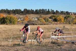 Ken Benesh, Gage Hecht, and Pete Webber in lap two