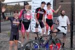 Zombie Cross men's open podium (l-r) Pete Webber 4th, Ken Benesh 3rd, Tim Allen 1st, Gage Hecht 2nd, Nic Handy5th