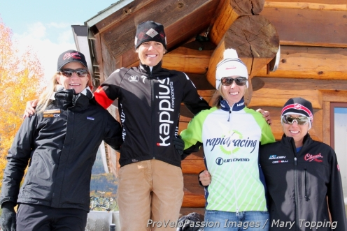 Frisco Cross women's open podium (l-r) Kristin Weber 3rd, Karen Hogan 1st, Kristal Boni 2nd, Rebecca Gross 4th, (Jess D'Amato 5th, absent)
