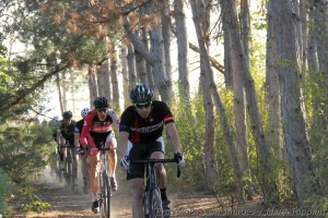 Tim Allen led the pack from start to finish at Zombie Cross